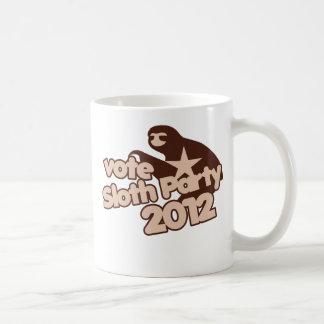 Vote Sloth Party 2012 Classic White Coffee Mug