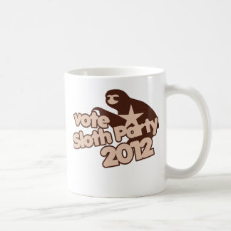 Vote Sloth Party 2012 Coffee Mugs