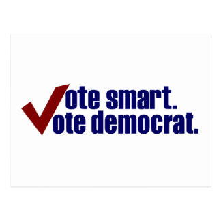 Vote Smart Vote Democrat Postcard