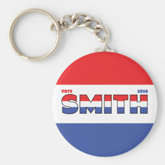 Vote Smith 2010 Elections Red White and Blue Key Chain