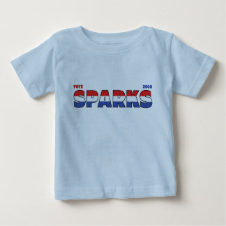 Vote Sparks 2010 Elections Red White and Blue Tshirt