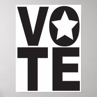 Vote Star Election Political Poster Art Design