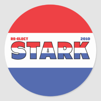 Vote Stark 2010 Elections Red White and Blue Round Stickers