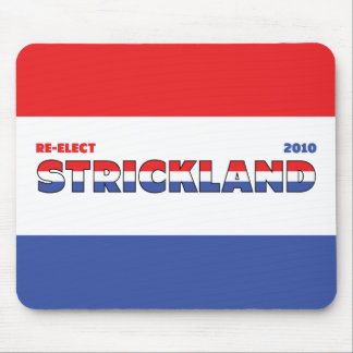 Vote Strickland 2010 Elections Red White and Blue Mouse Pad