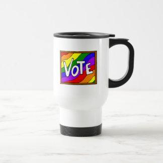 Vote the rainbow coffee mug
