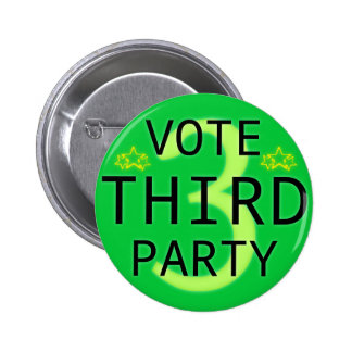 Vote Third Party Pin