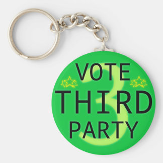 Vote Third Party Basic Round Button Key Ring