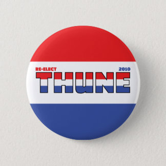Vote Thune 2010 Elections Red White and Blue 6 Cm Round Badge