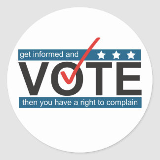 Vote to Complain Funny Election Humor Stickers
