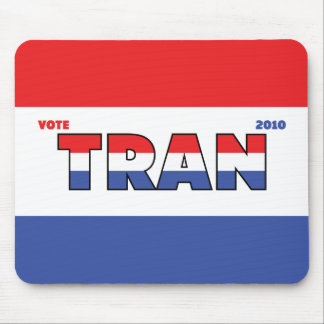Vote Tran 2010 Elections Red White and Blue Mouse Pads