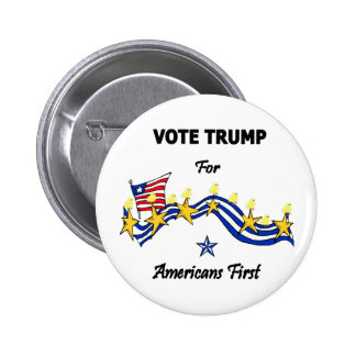 Vote Trump Americans First 6 Cm Round Badge