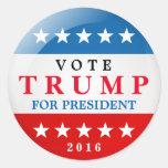 Vote Trump for President 2016 American Election Round Sticker