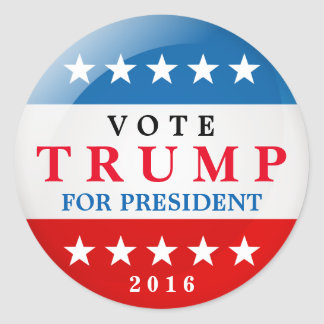 Vote Trump for President 2016 American Election Round Sticker