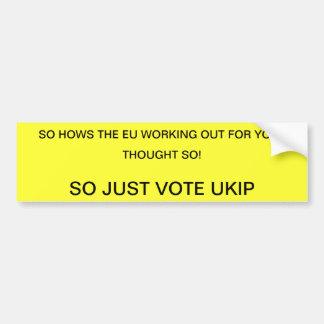 VOTE  UKIP BUMPER STICKER
