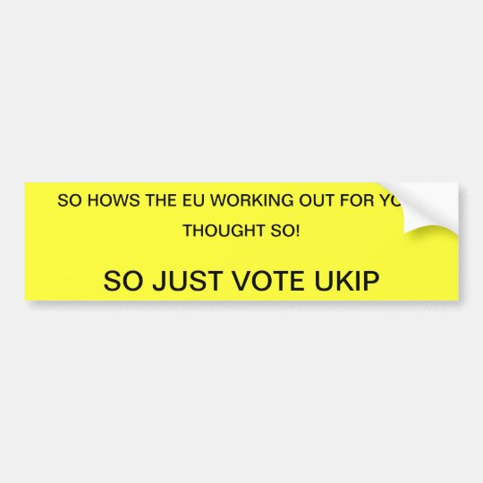 VOTE UKIP BUMPER STICKER