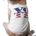 "VOTE ""V O T E"" with US FLAG Doggie T Shirt"
