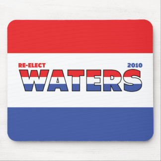 Vote Waters 2010 Elections Red White and Blue Mouse Pad
