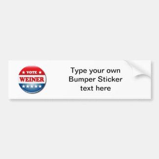 VOTE WEINER BUMPER STICKERS