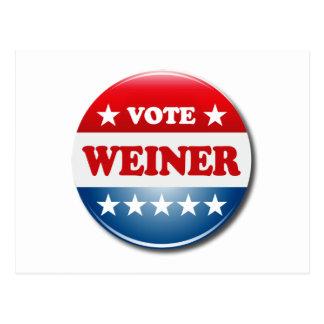 VOTE WEINER POSTCARD