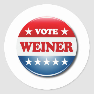 VOTE WEINER ROUND STICKERS
