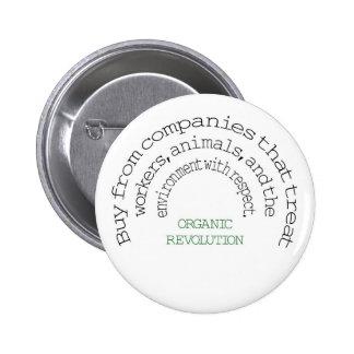 Vote With Your Dollar:  Organic Revolution 6 Cm Round Badge