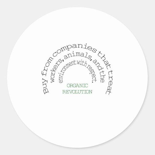 Vote With Your Dollar:  Organic Revolution Round Sticker
