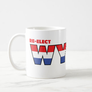 Vote Wyden 2010 Elections Red White and Blue Mug