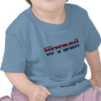 Vote Wyden 2010 Elections Red White and Blue Tshirt