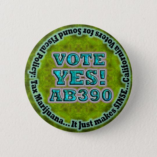 Vote YES AB390 button