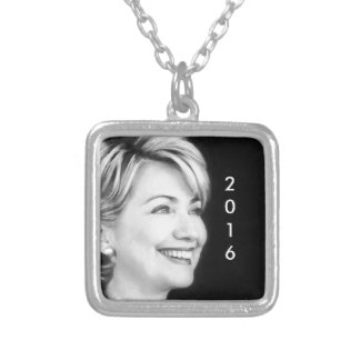 Vote Yes For Hillary in 2016 Square Pendant Necklace
