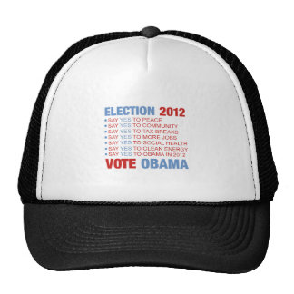 Vote yes for Obama Hat