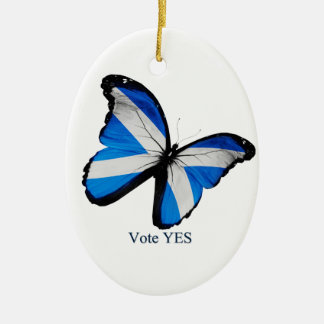Vote Yes for Scottish Independence Ceramic Oval Decoration