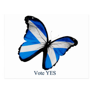 Vote Yes for Scottish Independence Postcard