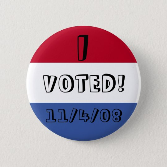 voted 6 cm round badge