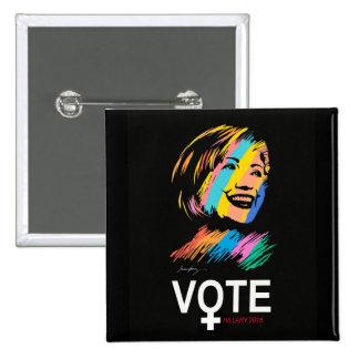 voteHILLARY2016 15 Cm Square Badge