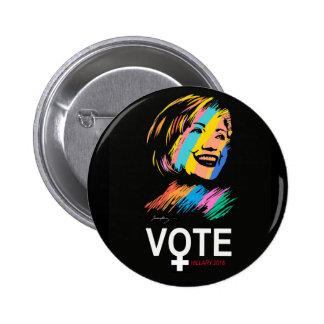 voteHILLARY2016 6 Cm Round Badge