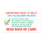 VOTER REMINDER CARDS! BUSINESS CARD TEMPLATES