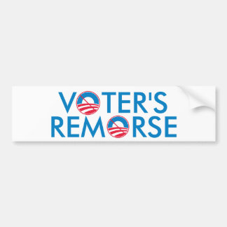 Voter's Remorse Bumper Sticker
