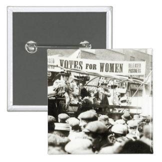 Votes for Women, August 1908 15 Cm Square Badge