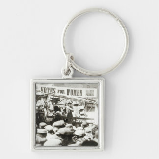 Votes for Women, August 1908 Silver-Colored Square Key Ring