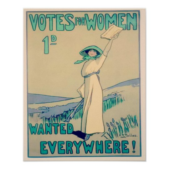 Votes for Women Everywhere Poster