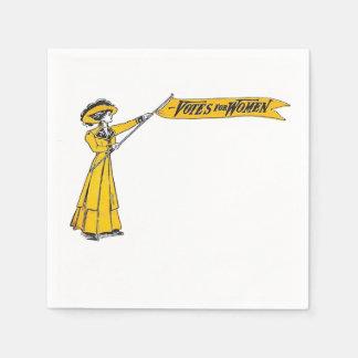 VOTES for WOMEN Napkins Suffragette Party!! Paper Serviettes