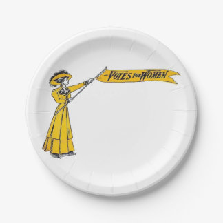 Votes for Women Paper Plates! Suffragette Party! 7 Inch Paper Plate