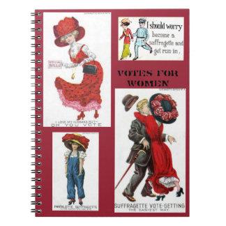 Votes for Women Suffragettes Art Vintage Notebooks