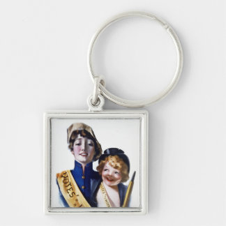 Votes for Women - Women's Suffrage, 1915 Silver-Colored Square Key Ring
