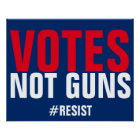 Votes Not Guns Resist Poster