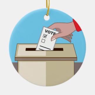 Voting Box Christmas Ornament
