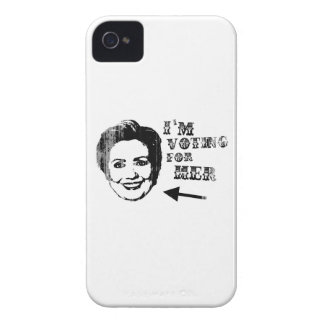 Voting for her Faded.png Case-Mate iPhone 4 Cases