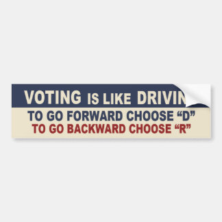 Voting is like Driving Bumper Sticker