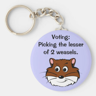 Voting - Picking the lesser of 2 evils Key Chains